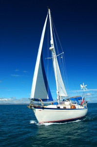 A Hallberg Rassy Rasmus 35, built in Sweden for serious offshore sailing.
